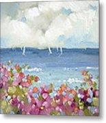 Nantucket Sea Roses Metal Print