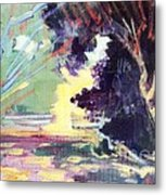 Napa Valley Forest Fall Metal Print