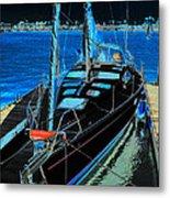 Naples Yacht Metal Print