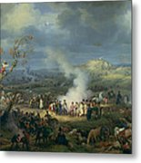 Napoleon 1769-1821 Visiting A Bivouac On The Eve Of The Battle Of Austerlitz, 1st December 1805 Metal Print