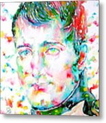 Napoleon Bonaparte - Watercolor Portrait Metal Print