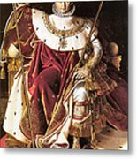 Napoleon I On His Imperial Throne Metal Print