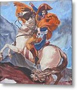 Napoleon On A Horse In The Alps Metal Print