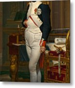 Emperor Napoleon In His Study At The Tuileries Metal Print