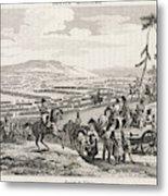 Napoleon's Army Crosses The  Neman Metal Print
