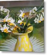 Narcissus In The Vase Metal Print