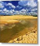 North Curl Curl With Clouds Metal Print