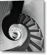 Narrow Circular Staircase Abstract Metal Print