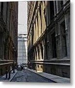 Narrow Manhattan Street Metal Print