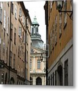 Narrow Road Stockholm Metal Print