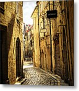 Narrow Street In Perigueux Metal Print by Elena Elisseeva