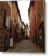 Narrow Street In Provence Metal Print