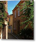 Narrow Street In The Village Metal Print