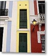 Narrow Yellow Building In Old San Juan Metal Print