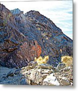 Narrowing Of Trail In Big Painted Canyon Trail In Mecca Hills-ca Metal Print