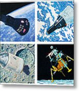 Nasa Manned Spacecraft Of The 1960's. Metal Print