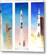 Nasa Rockets Metal Print