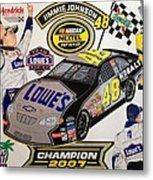 Nascar 2007 Champion Metal Print