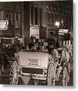 Nashville Carriage Ride Metal Print