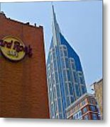 Nashville Downtown Metal Print