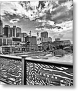 Nashville From The Shelby Bridge Metal Print