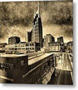 Nashville Grunge Metal Print