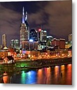 Nashville Is A Colorful Town Metal Print