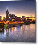 Nashville Skyline Panorama Metal Print