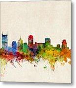Nashville Tennessee Skyline Metal Print