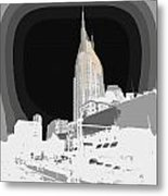 Nashville Touched In Color Metal Print