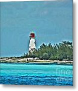 Nassau Bahama Lighthouse Metal Print