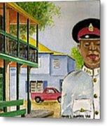 Nassau Bahamas Policeman Metal Print