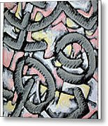 Nassau Message In The Sand  Metal Print