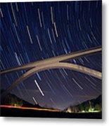 Natchez Trace Bridge At Night Metal Print