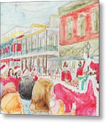 Natchitoches Christmas Parade Metal Print by Ellen Howell