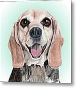 Nathan - A Former Shelter Sweetie Metal Print