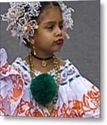 National Costume Of Panama Metal Print