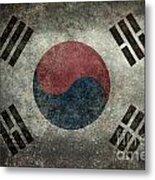 National Flag Of South Korea Desaturated Vintage Version Metal Print
