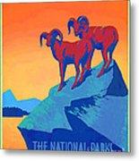 National Parks Wild Life Poster Metal Print