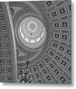 National Statuary Rotunda Bw Metal Print