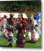 Native American Dancers Metal Print