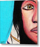 Native American Girl 2 Metal Print