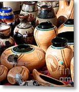 Native American Pottery Sale Metal Print