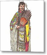 Native American Woman Metal Print