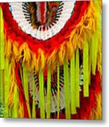 Native American Yellow Feathers Ceremonial Piece Metal Print