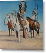 Native Americans On Horseback Metal Print