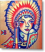 Native Girl Metal Print