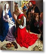 Nativity And Adoration Of The Magi Metal Print