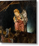 Nativity Angel  Metal Print