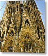 Nativity Facade - Sagrada Familia Metal Print